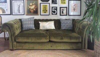 Sofa nhung xanh rêu