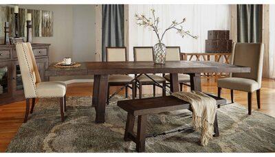 Bộ bàn ăn 5 ghế bọc da
