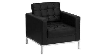 Sofa đơn da đen