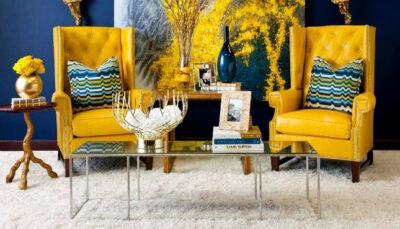 sofa đơn da vàng tươi