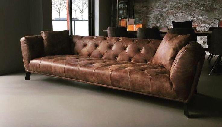 Sofa văng da nâu xì gà