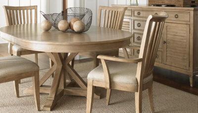 Bộ bàn ăn mặt thoi gỗ tự nhiên