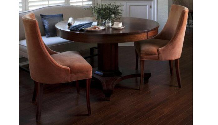 Bộ bàn ăn mặt tròn gỗ tự nhiên