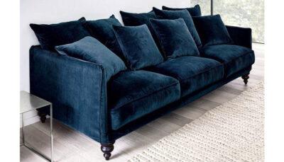Sofa văng nhung xanh đen